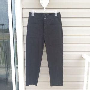 Zara high rise cropped black pants Xsmall